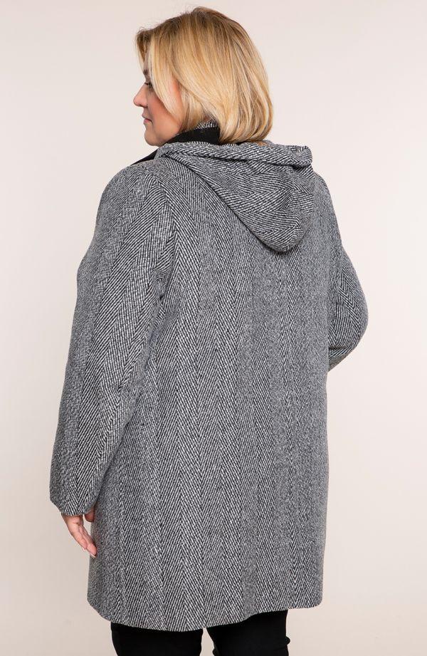 Klasyczny płaszcz w jodełkę