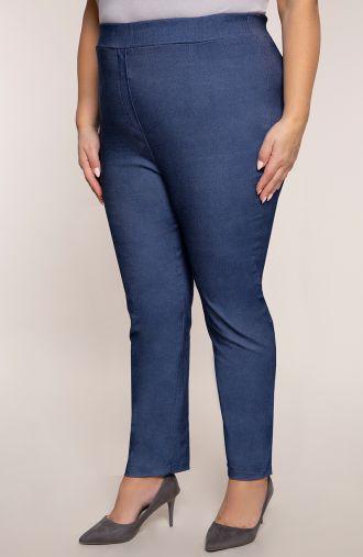 Jeansowe spodnie z bardzo wysokim stanem