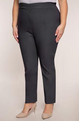 Szare spodnie z bardzo wysokim stanem