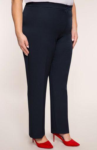 Eleganckie granatowe spodnie w kant
