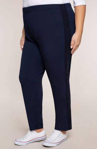 Spodnie dresowe z brokatowym lampasem