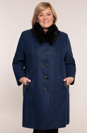 Elegancki płaszcz w granatowym kolorze