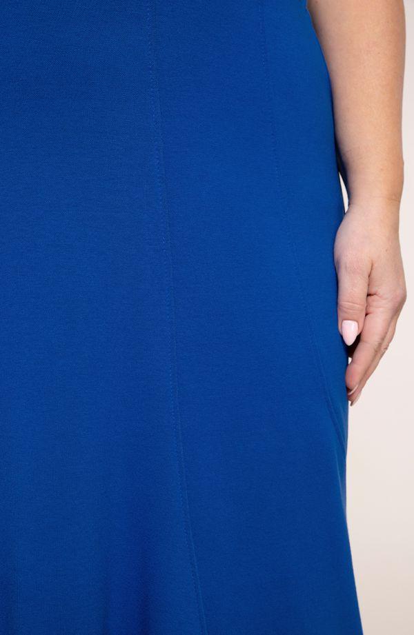 Chabrowa spódnica syrenka z przeszyciami