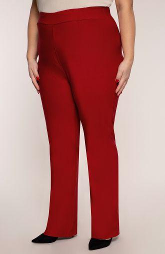 Proste spodnie bardzo wysoki stan makowe
