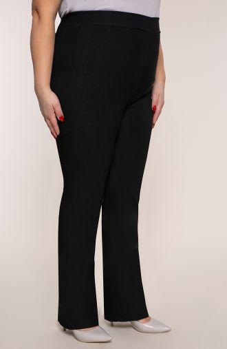 Proste spodnie bardzo wysoki stan czerń