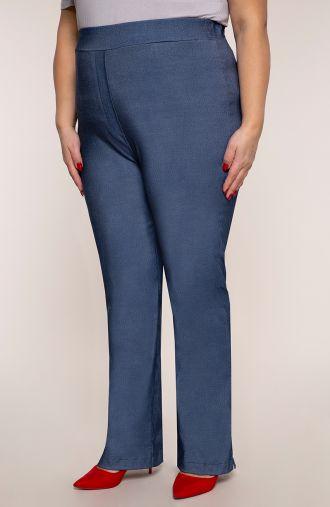 Proste spodnie bardzo wysoki stan jeans