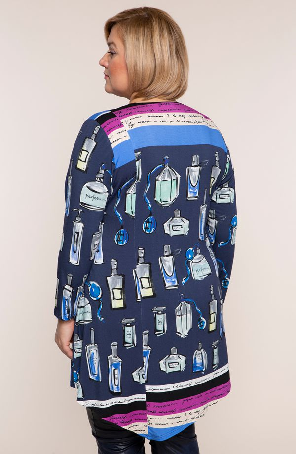 Asymetryczna tunika buduar paryżanki