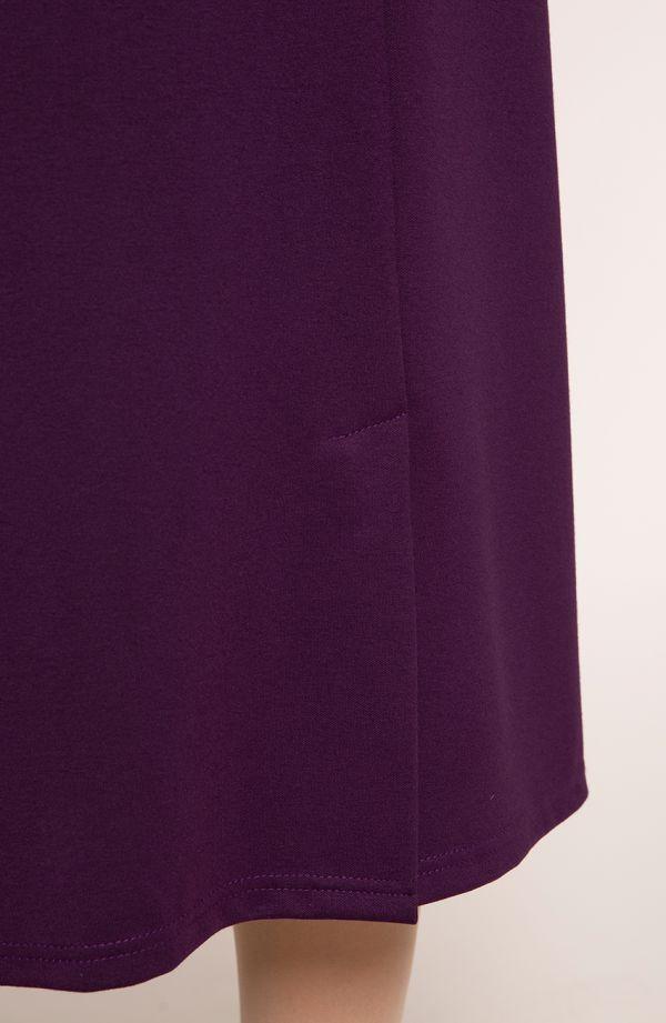 Dłuższa elegancka fioletowa spódnica