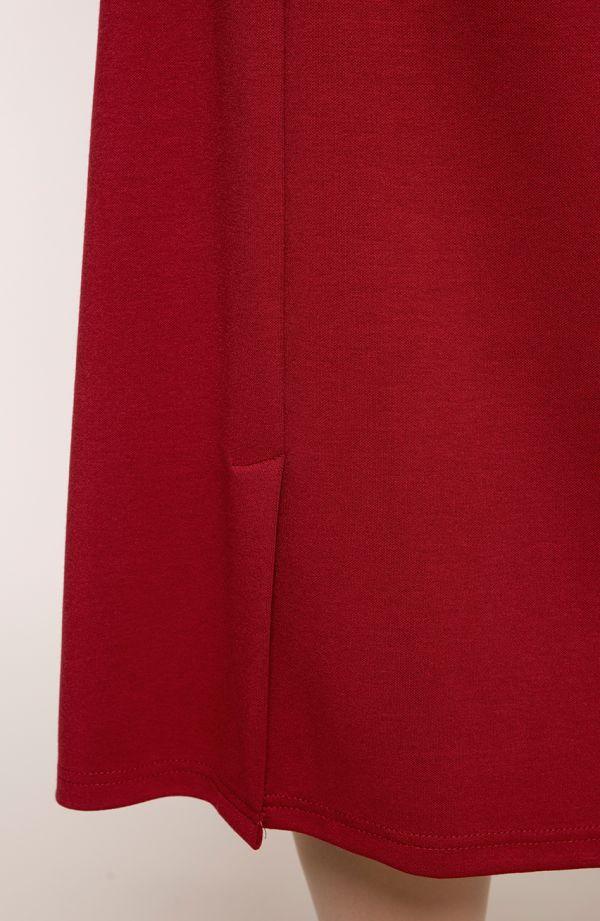 Dłuższa elegancka bordowa spódnica