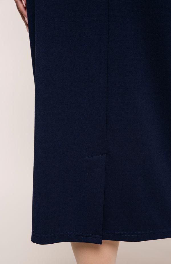 Dłuższa elegancka granatowa spódnica