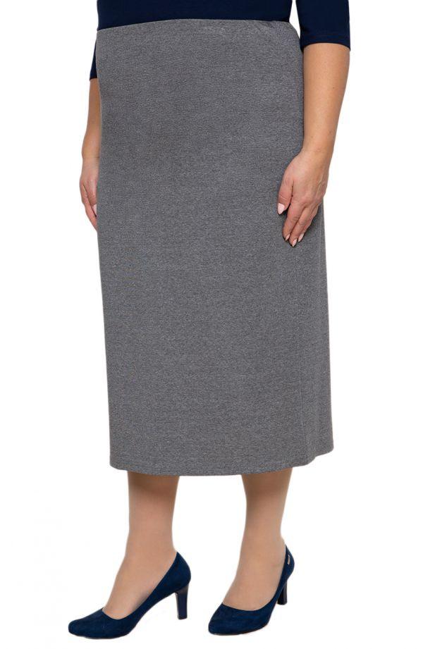 Dłuższa elegancka szara spódnica