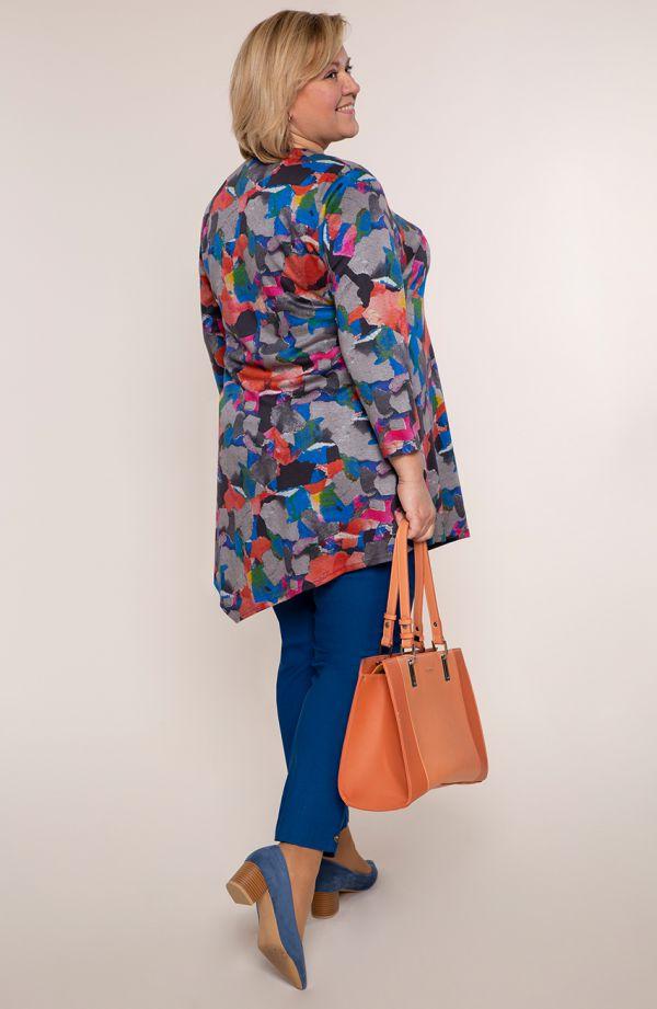 Asymetryczna tunika kolorowe łatki