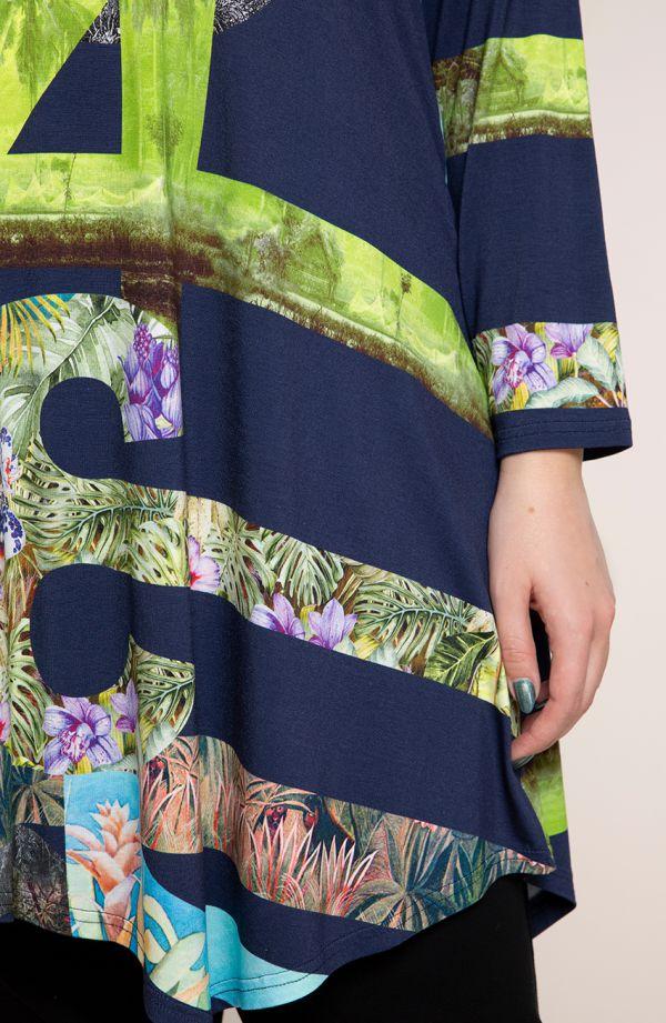 Asymetryczna tunika bezkresna łąka