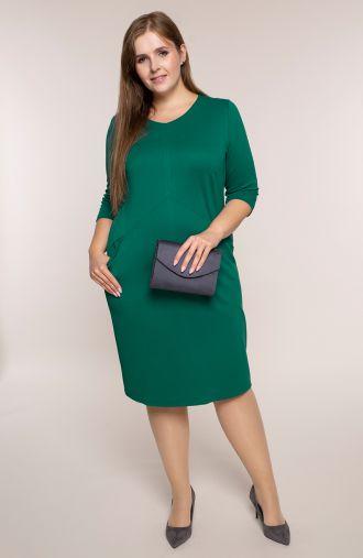 Zielona sukienka z kieszonkami