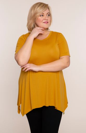 Tunika w żółtym kolorze