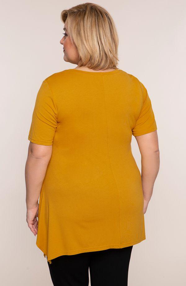 Tunika w żółtym kolorze - odzież plus size