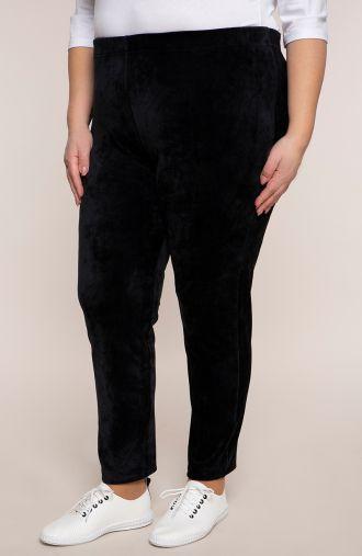 Spodnie dresowe z czarnego weluru