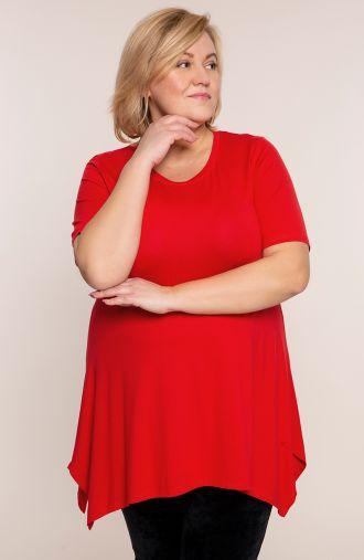 Czerwona tunika z krótkim rękawem