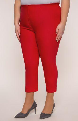 Spodnie rybaczki w czerwonym kolorze