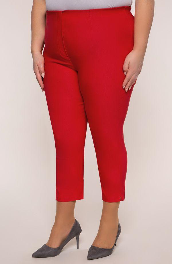 Spodnie plus sizerybaczki w czerwonym kolorze