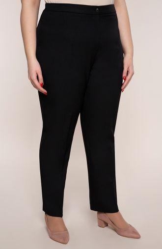Lniane spodnie w kant w czarnym kolorze