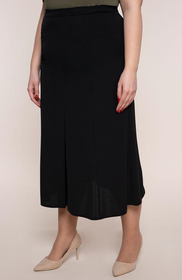 Czarna spódnica tulipan z rozcięciem