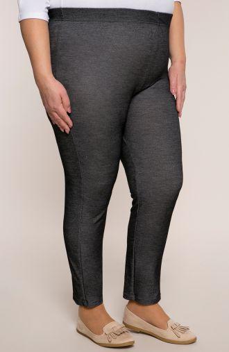Marmurkowe legginsy w grafitowym kolorze