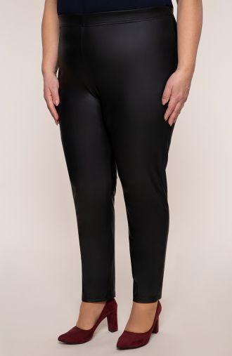 Skórkowe legginsy w czarnym kolorze