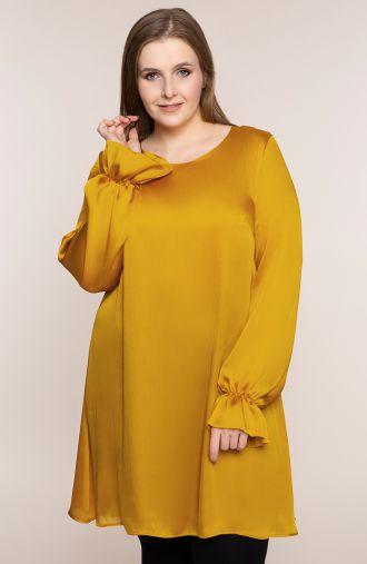 Długa tunika w musztardowym kolorze