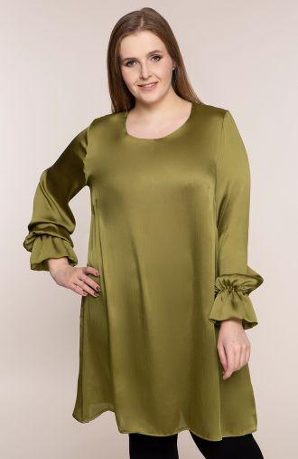 Długa tunika w oliwkowym kolorze
