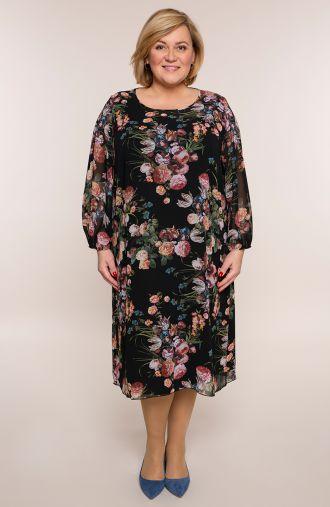 Dwuwarstwowa sukienka wiosenne bukiety
