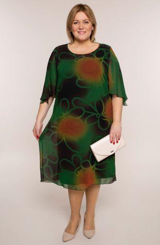 Dwuwarstwowa sukienka zielona fantazja