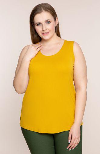 Uniwersalny top w żółtym kolorze