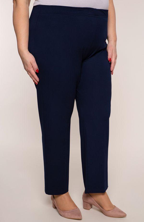 Klasyczne cienkie granatowe spodnie