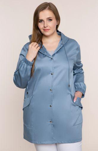 Niebieska kurtka parka z kieszeniami