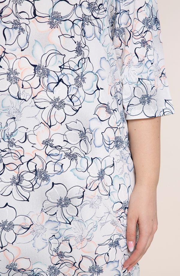 Półdługa sukienka zimowe kwiaty