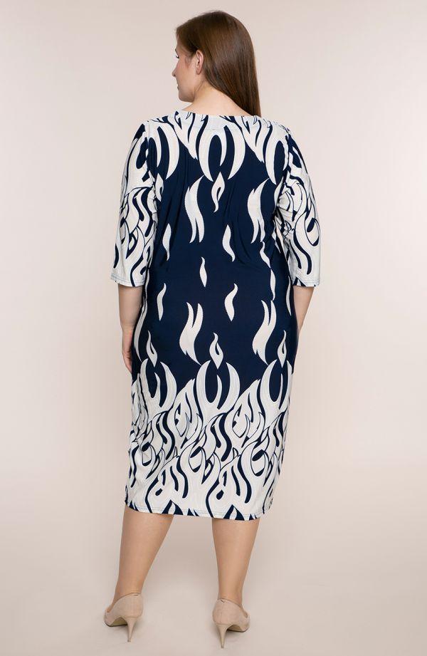 Półdługa sukienka lodowe płomienie