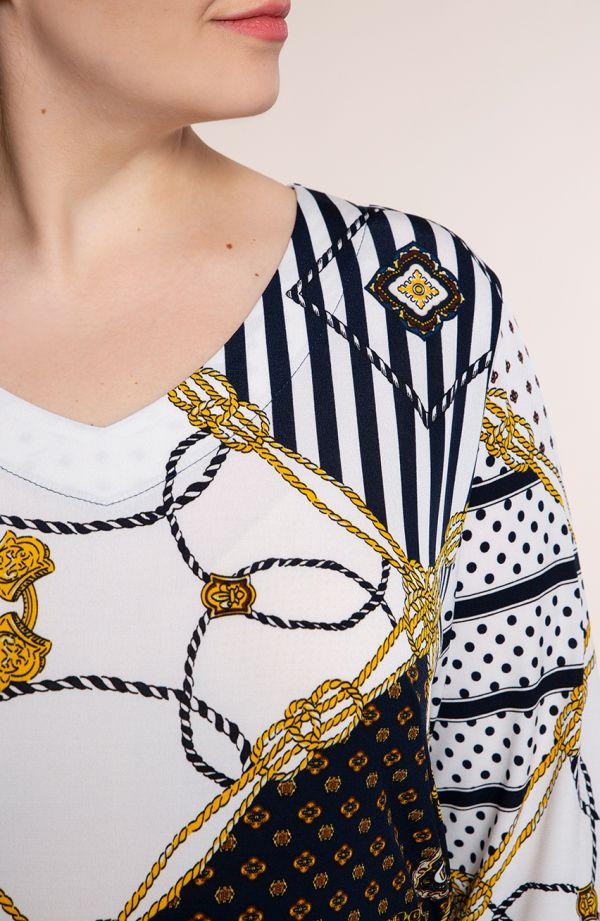 Półdługa sukienka złote łańcuchy