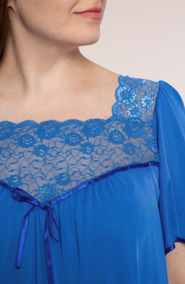 Koszula nocna w szafirowym kolorze Mewa