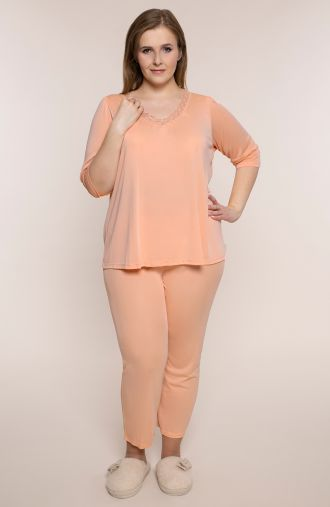 Piżama w morelowym kolorze Mewa