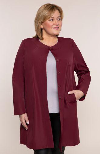 Elegancki płaszczyk w bordowym kolorze