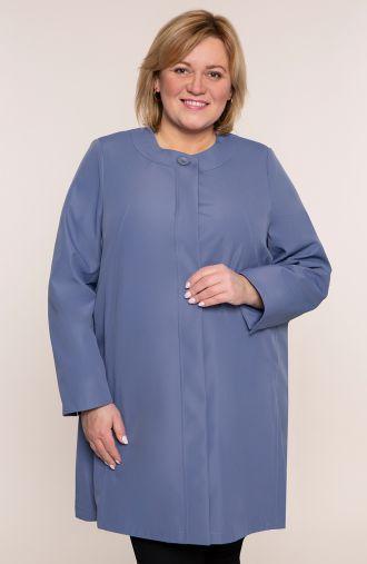 Elegancki płaszczyk w niebieskim kolorze
