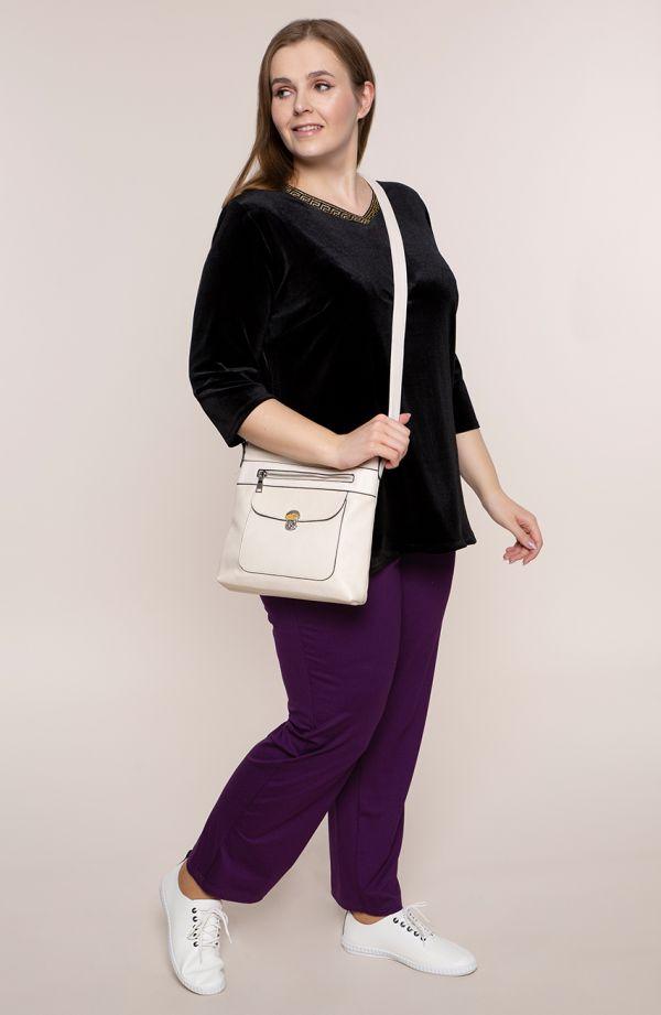 Klasyczne spodnie w fioletowym kolorze