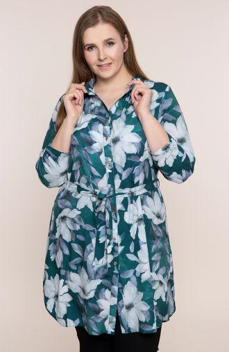 Tunika koszulowa kwiatowa toń