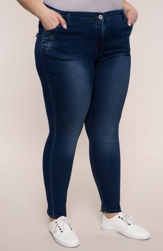 Jeansowe spodnie z dopasowaną nogawką
