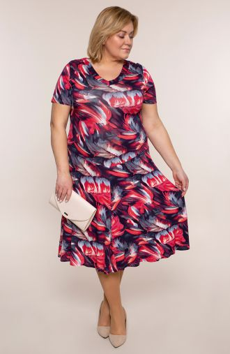 Rozkloszowana sukienka ogniste flamenco