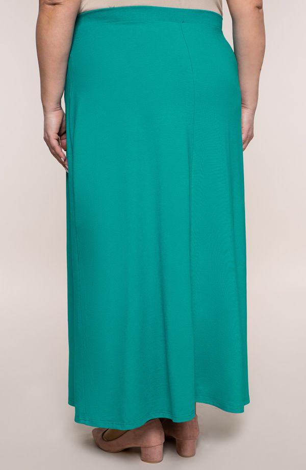 Spódnica maxi w grynszpanowym kolorze