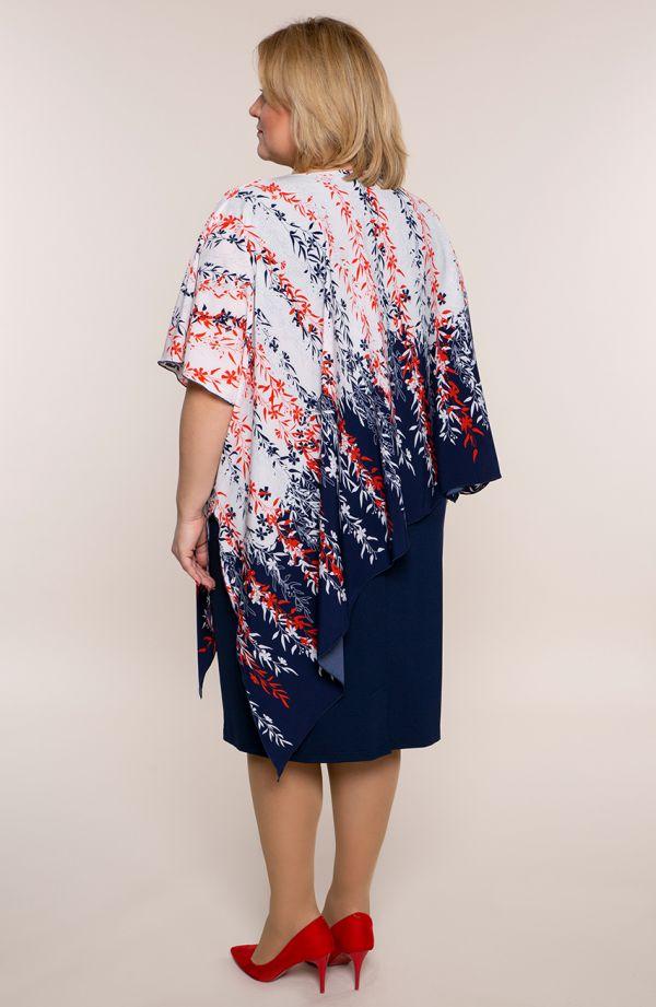 Asymetryczna sukienka kwitnąca wiśnia