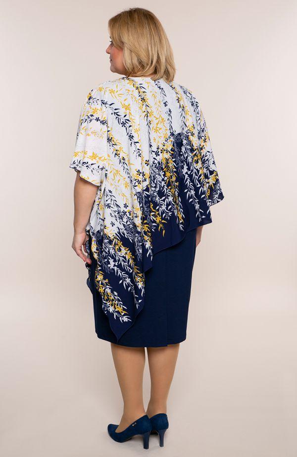 Asymetryczna sukienka kwiat czeremchy