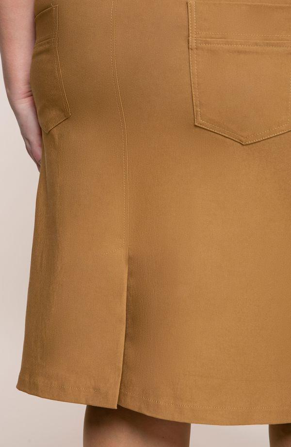 Karmelowa spódnica na gumce